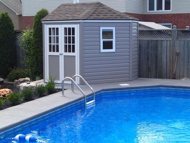 Custom Pool Side Shed