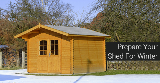 Prepare Your Shed For Winter