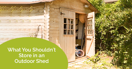 What You Shouldn't Store in an Outdoor Shed