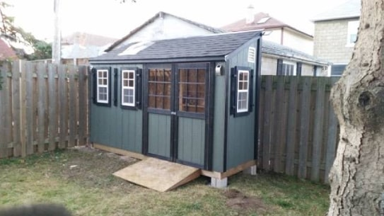 Custom Blue Algonquin Style Shed