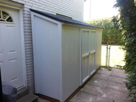 White Algonquin Style Shed