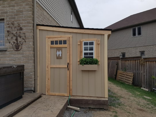 Custom Wooden Algonquin Style Shed