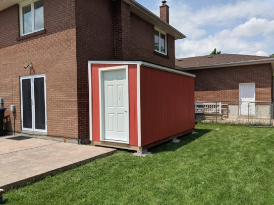 Red Algonquin Style Shed