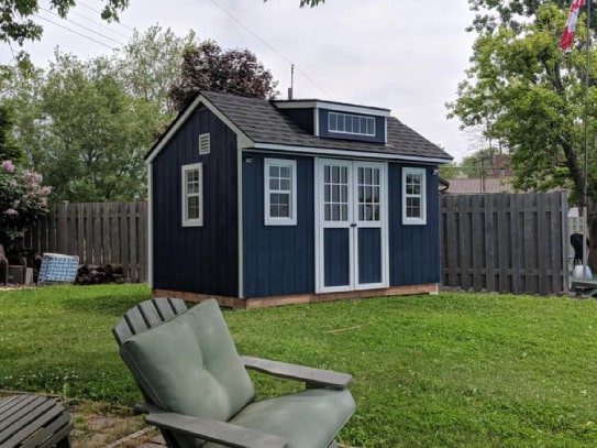 Custom Blue Bobcaygeon Style Shed