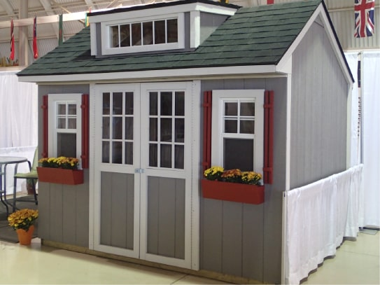 Grey Windowed Bobcaygeon Style Shed