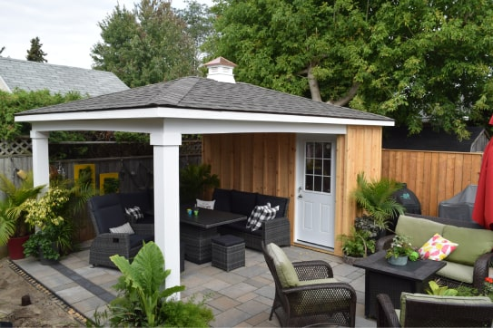 Custom Back Yard Hip Roof Style Gazebo