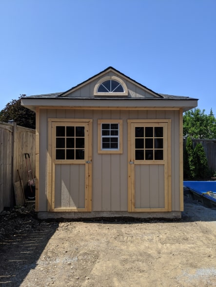 Custom Pool Shed With Hip Roof