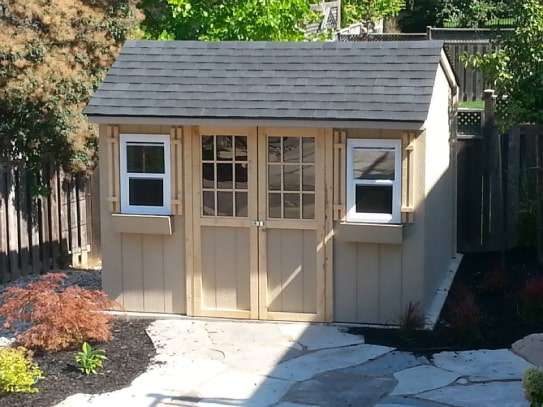 Windowed Haliburton Cottage Shed