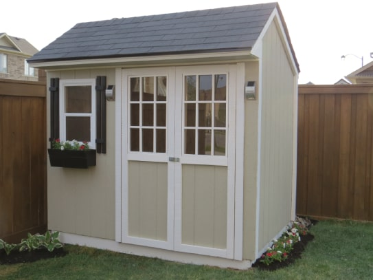 Haliburton Cottage Shed With White Trims