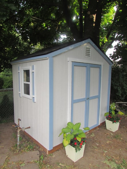 Custom White Highland Gable Shed