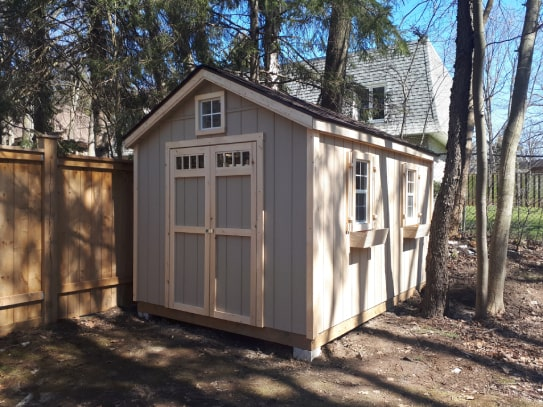 Windowed Highland Gable Shed