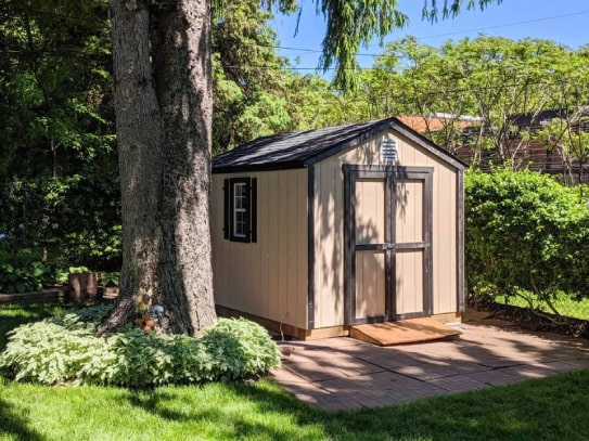 Custom Highland Gable Shed With Black Trims