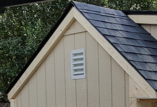 Side Vent For Back Yard  Shed