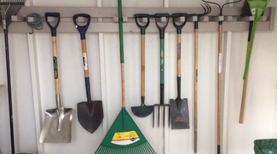 Tool Rack for Back Yard  Shed